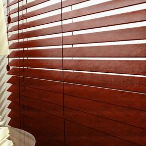 houten jaloezie 50mm Verano met ladderkoord distress